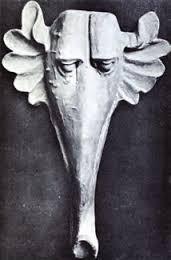 Alçıdan Yapılmış Fil Başı