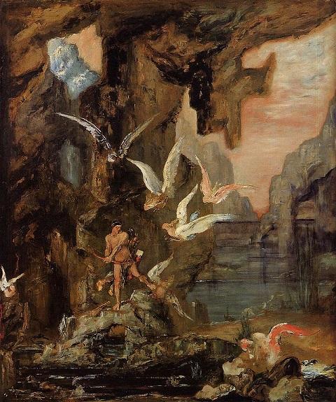 Hercules at Lake Stymphalos - Gustave Moreau - (1875 - 1880)