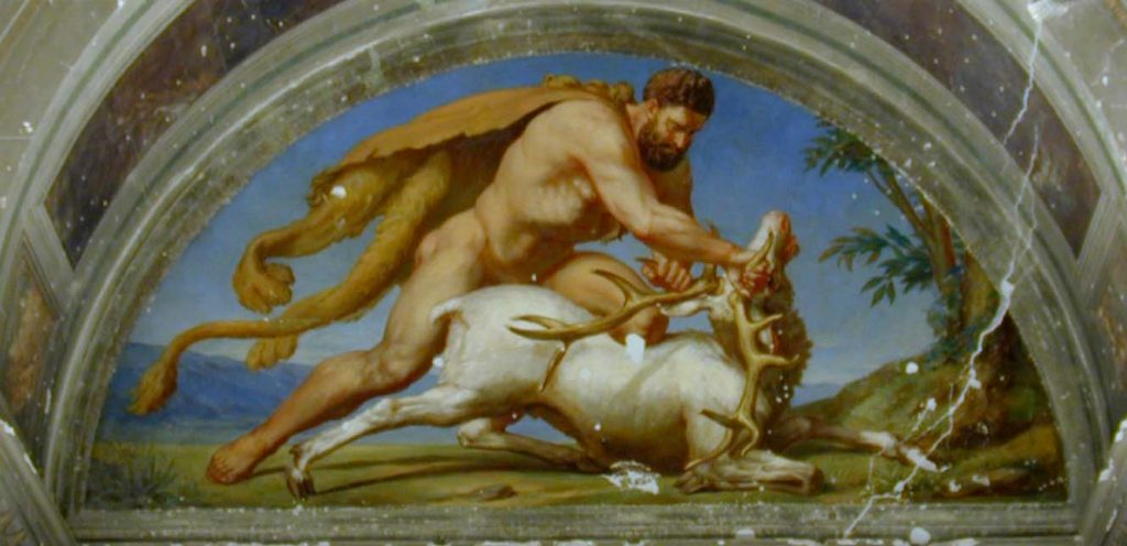 Heracles Captures the Ceryneian Hind