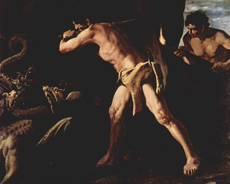 Hercules Fighting With The Lernaean Hydra - Francisco de Zurbaran (1634)