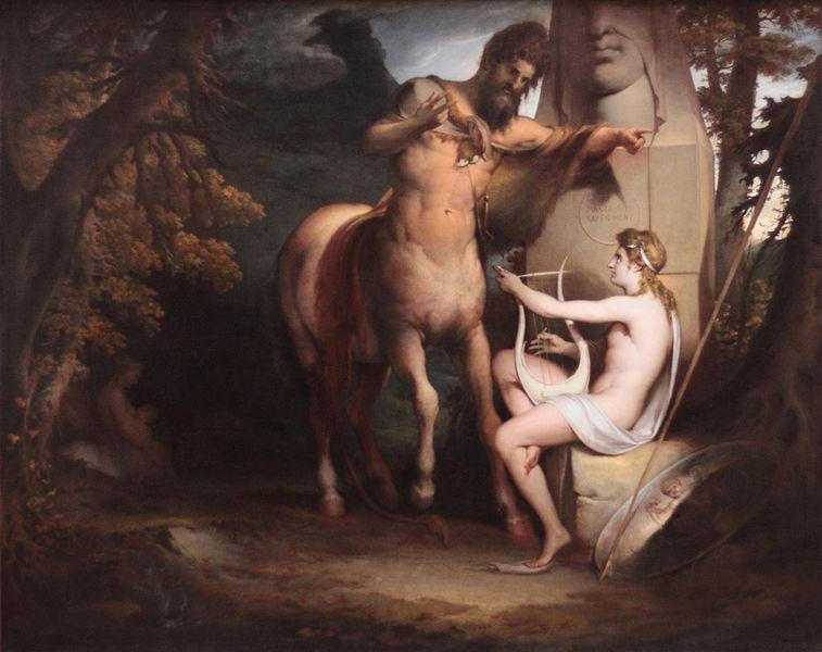 kheiron-akhilleusu-egitirken