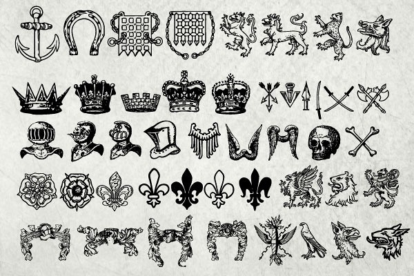 antique-heraldry-vector-collection