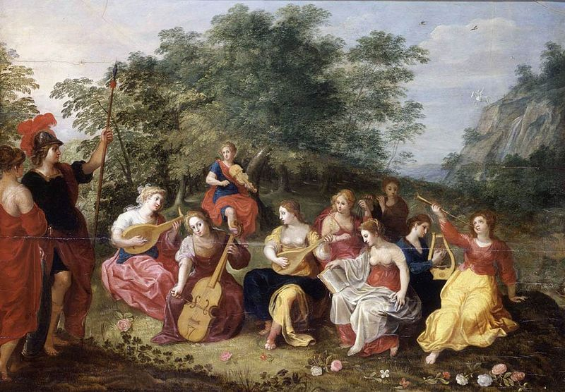 Minerva and the Nine Muses - Hendrick van Balen the Elder (1573-1632)