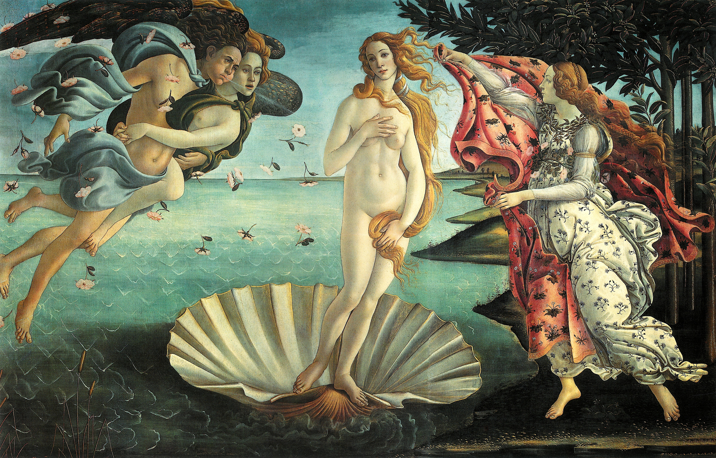 The Birth of Venus - Sandro Botticelli (1485)